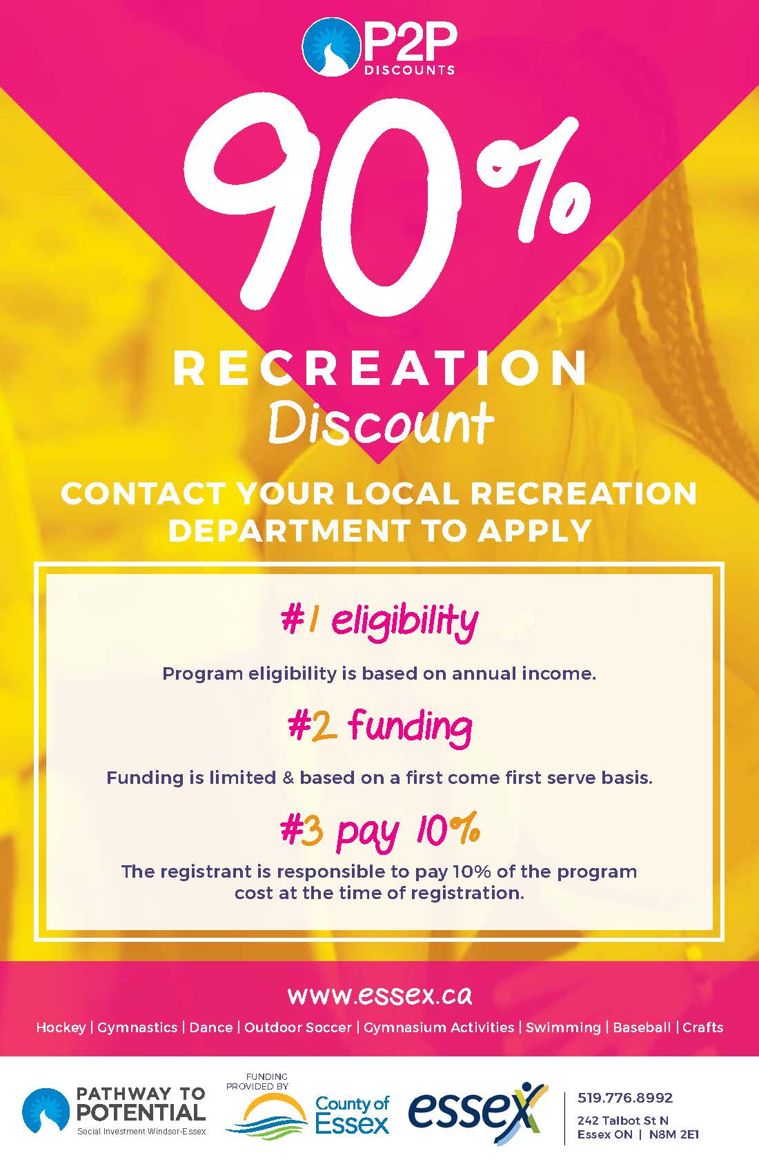 Pathway to Potential recreation funding graphic