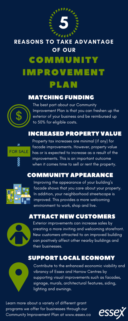 Infographic on 5 reasons to take advantage of the CIP program