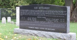 Iler Settlement headstone with history