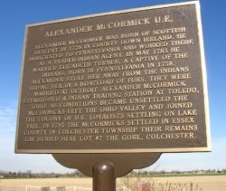 Historic plaque in honour of Alexander McCormick
