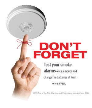 Don't forget to test your smoke alarms