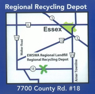Map of Landfill and Recycling Depot