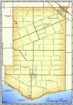 Road map of the Town of Essex