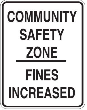 Community Safety Zone sign