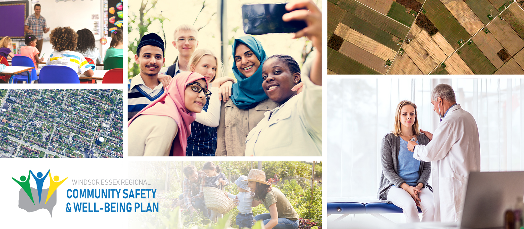 Collage of images for the community safety and well-being plan