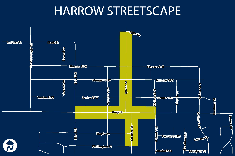 Harrow Streetscape Project Area
