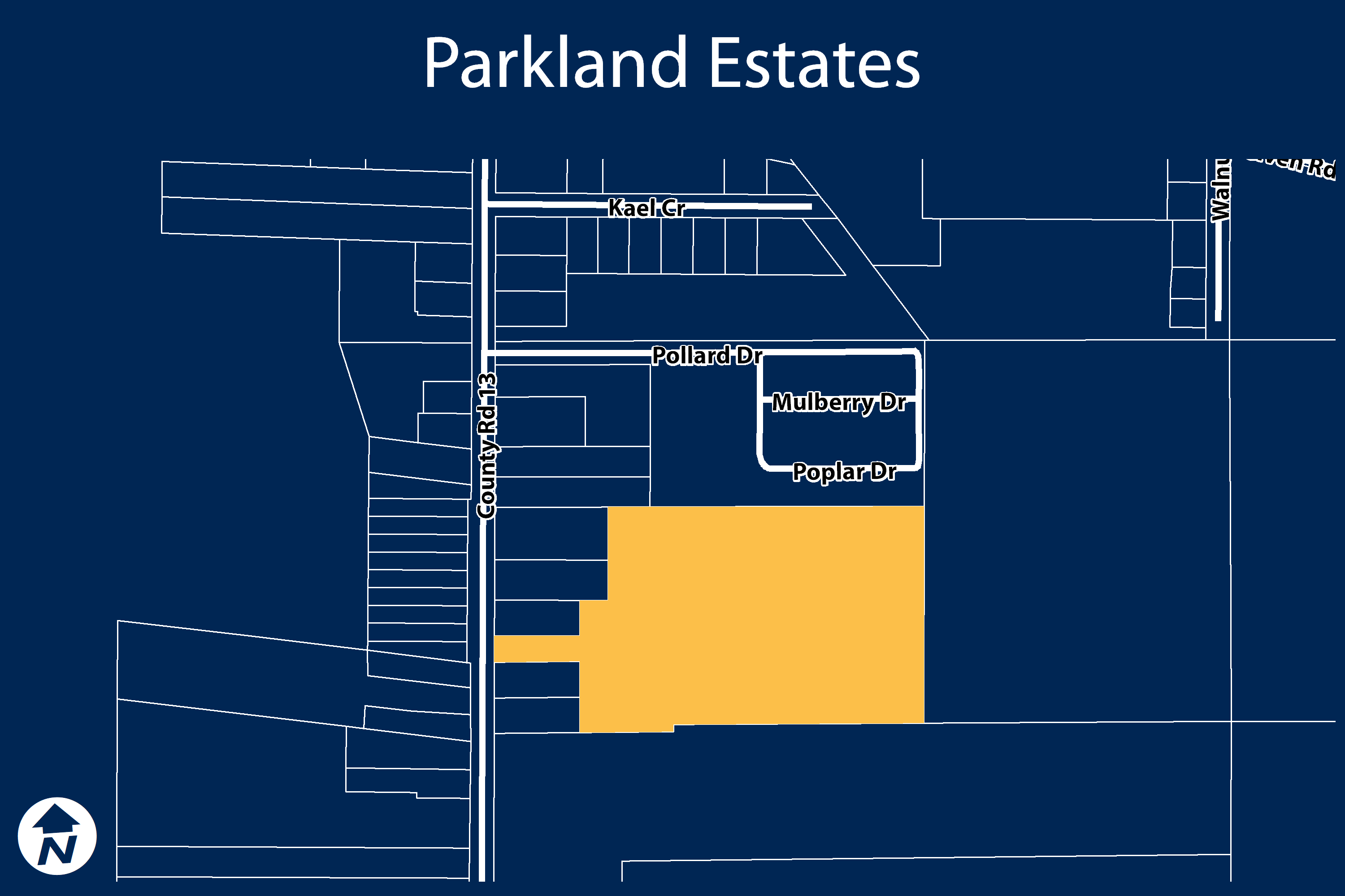 Key Map of Parkland Subdivision project area