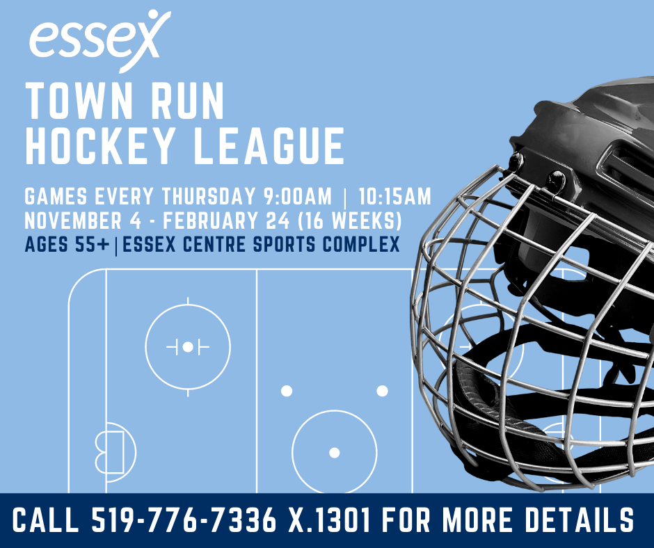 Essex Town run Hockey League for Adults 65+