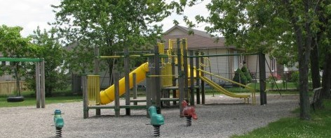 Playground equipment at Bridlewood Park