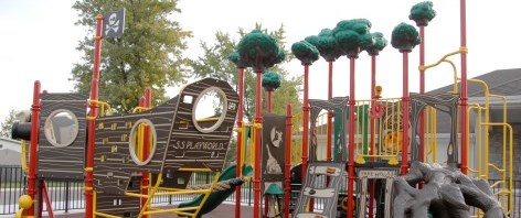 Pirate ship playground equipment