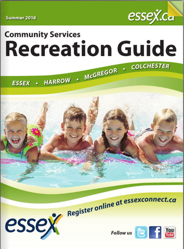 Cover of Summer 2018 Recreation Guide with Kids at a Splash Pad