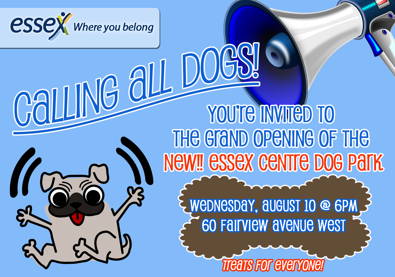 Dog Park Grand Opening FB Plug
