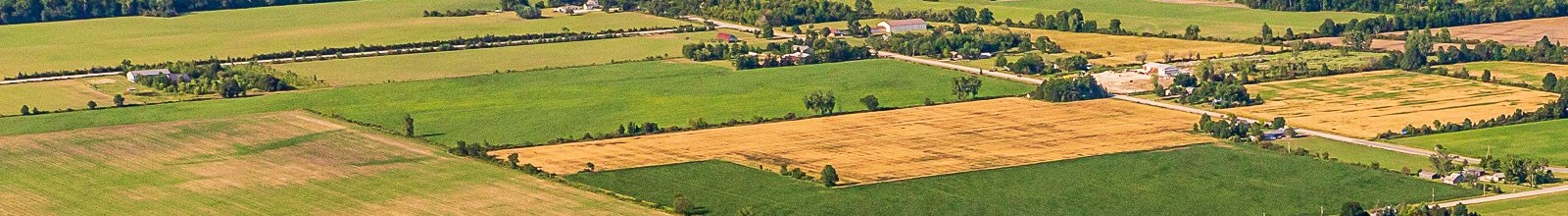 Aerial photo of a rural area in the Town of Essex