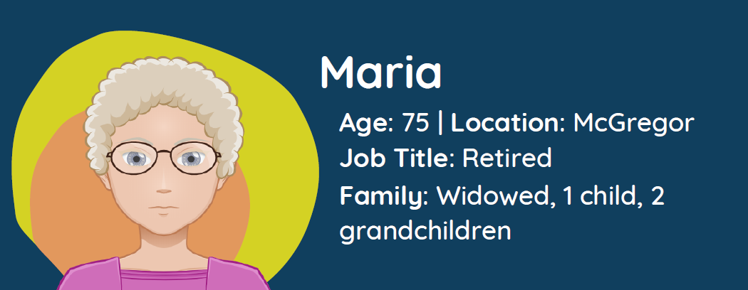 Character image of Maria with bio and family information